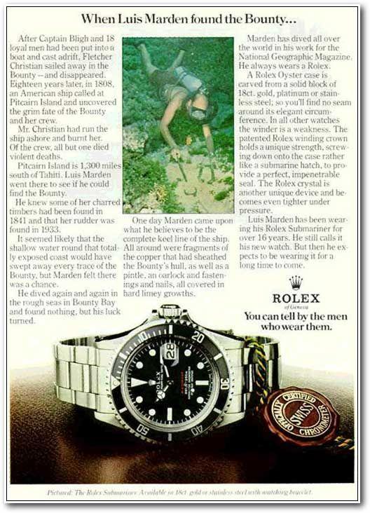 Vintage Rolex advertisement
