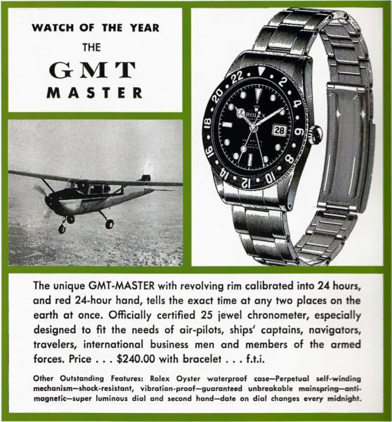 Rolex GMT-Master advertisement