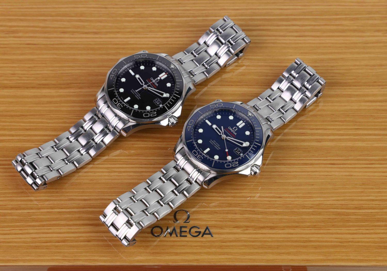 Omega Seamaster diver 300M ceramic black vs blue