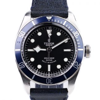 Tudor Heritage Black Bay Blue 79220B Leather for sale online