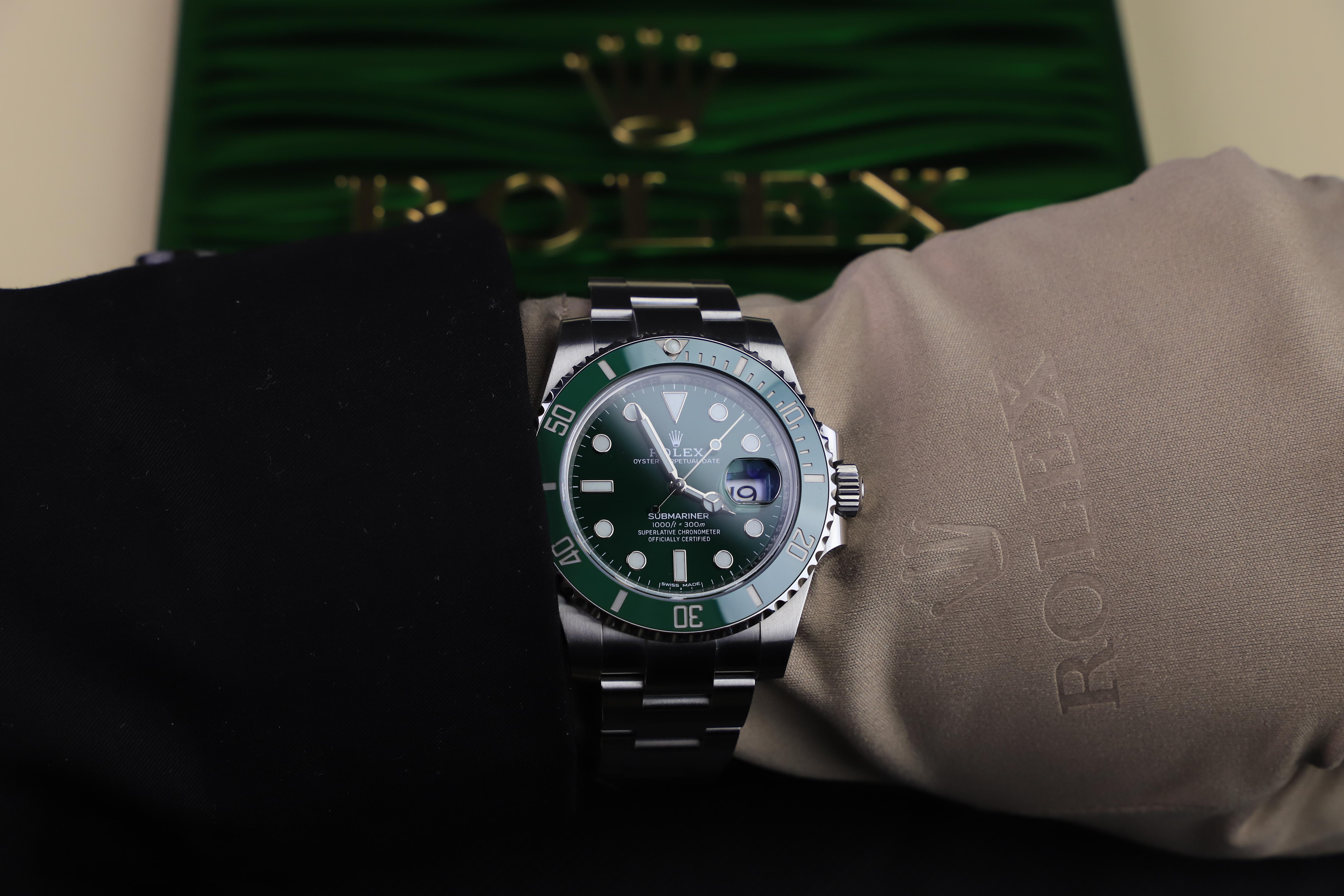 Rolex submariner 116610LV wrist shot