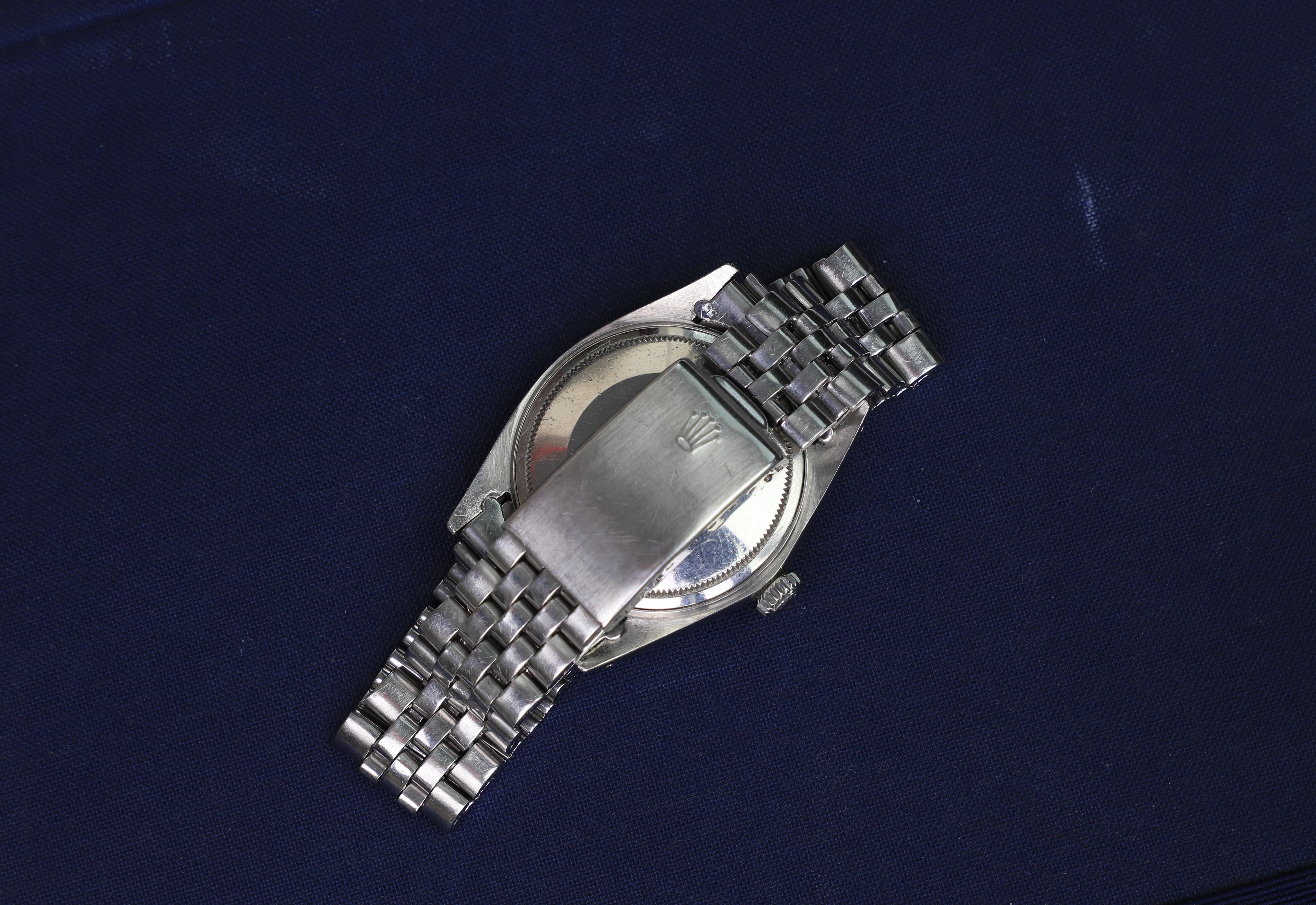 Rolex Datejust 1601 silver dial jubilee bracelet