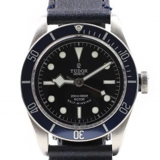 Tudor Heritage Black Bay 79220B Leather 2014
