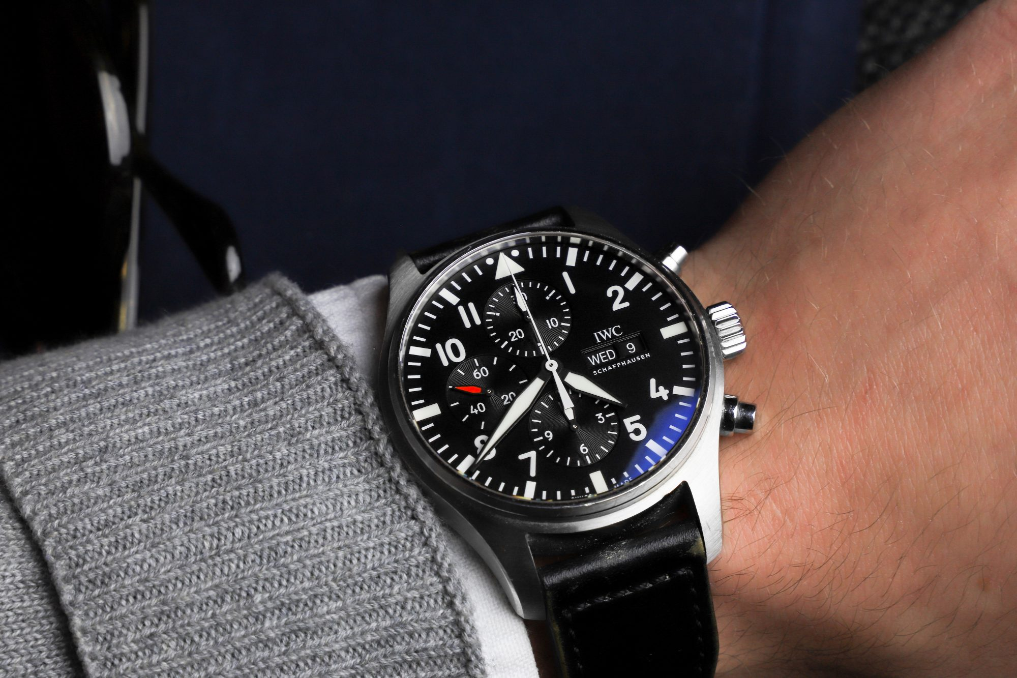 IWC IW377709-Pilot's Watch Chronograph wrist shot