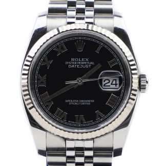 Rolex Datejust Black Dial Roman Numerals 116234 2015
