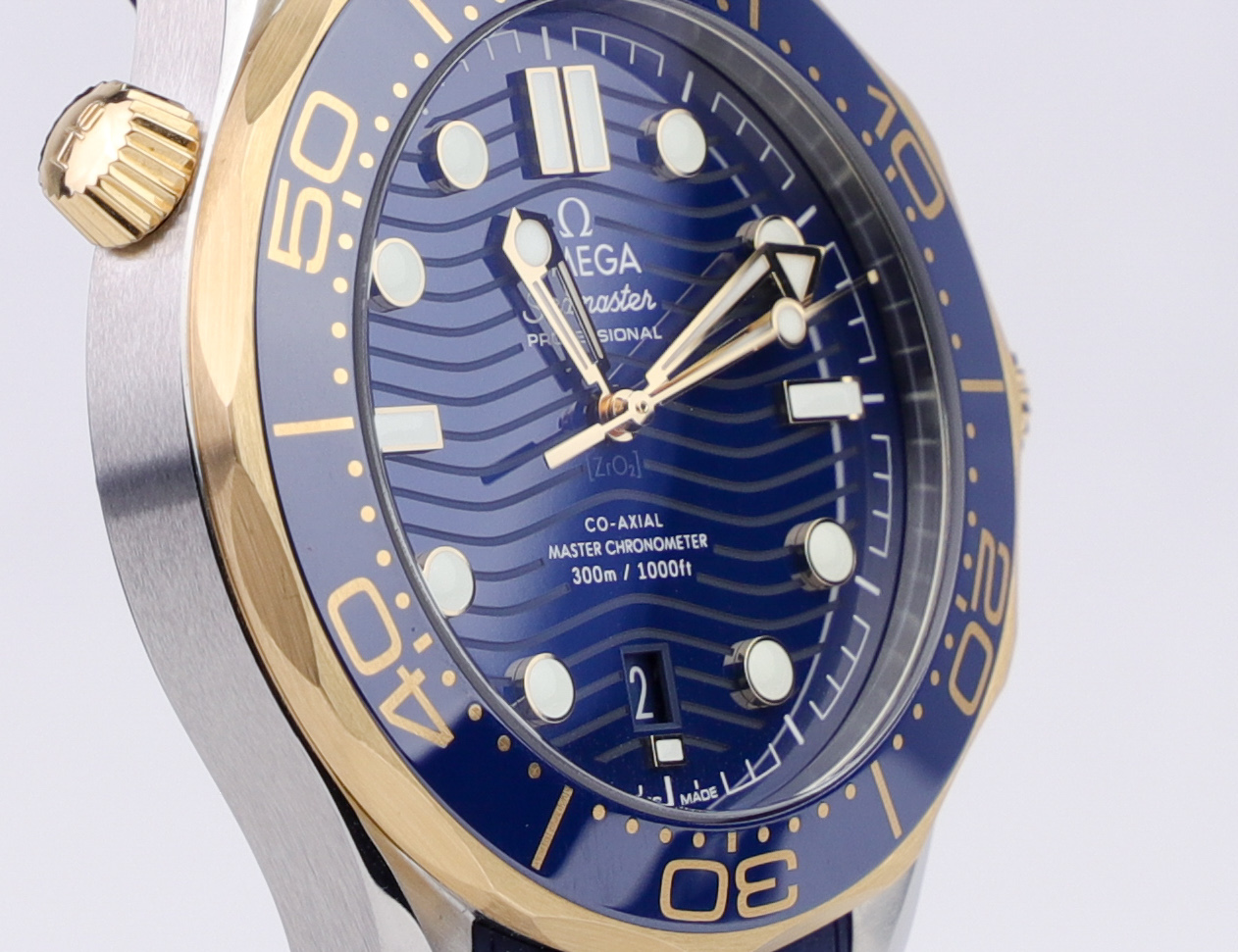 Omega Seamaster Gold and steel dial