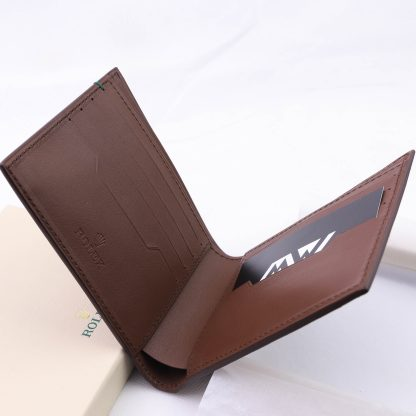 Brown Rolex Fold Wallet with 8 Card Slots + 2 Cash Slots for sale online