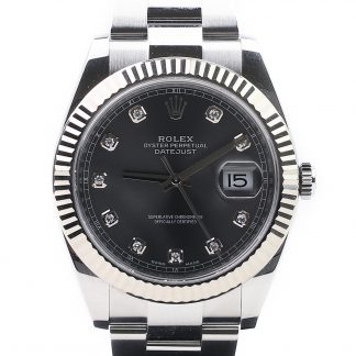 Rolex Datejust Dark Rhodium Diamond Dial 126334