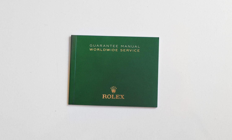 Rolex Warranty Booklet