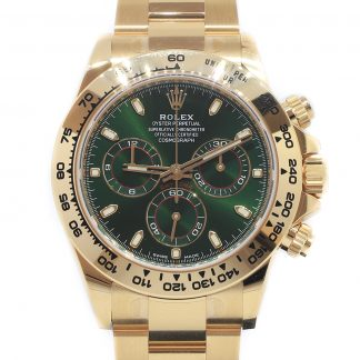 Rolex Daytona Yellow Gold Green Dial 116508 Unworn 2019