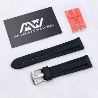 WatchGecko Black Rubber Strap