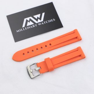 WatchGecko Orange Rubber Strap 20mm