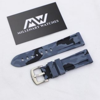 Grey Camo Rubber Strap 20mm