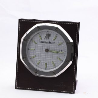 Audemars Piguet Royal Oak desk table clock Authentic Manual 8 Days Power Reserve