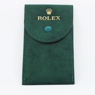 brand new 100% authentic Rolex Watch pouch/travel pouch/service pouch in faux suede. The pouch comes with an insert where you place your watch.