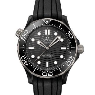 Omega Seamaster Diver 300 M Black Ceramic Black Dial 43.5mm New 2019