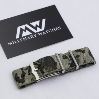 Tudor Original Black Bay Green Camo Fabric Strap 22mm