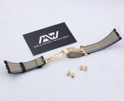 Audemars Piguet Royal Oak 41 OEM Rose Gold Deployment Black Crocodile Strap