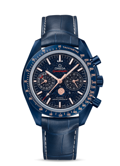 Omega Speedmaster Moonwatch Blue Side of Moon New 2019 304.93.44.52.03.002