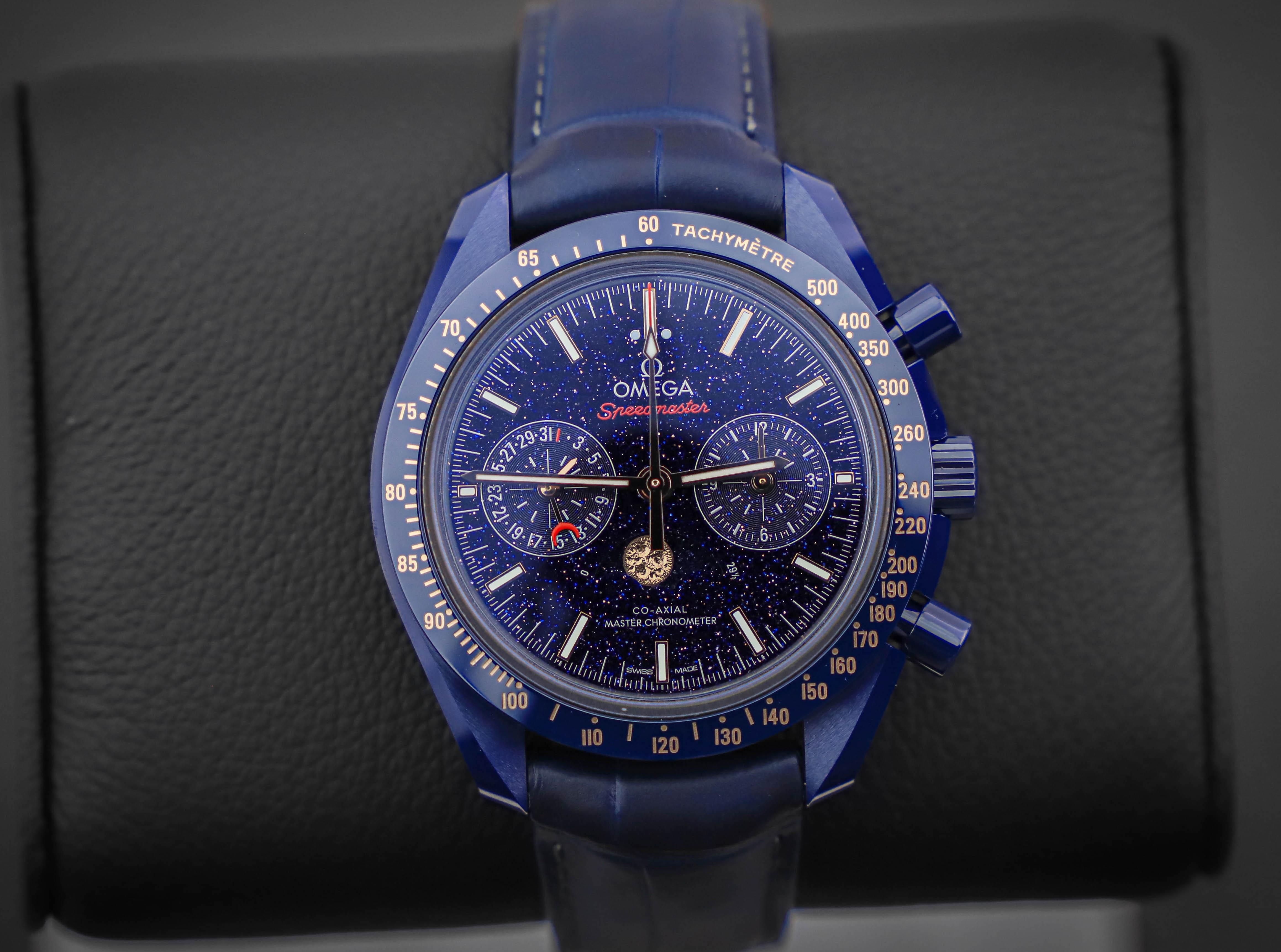 Omega Speedmaster Blue Side of the Moon aventurine