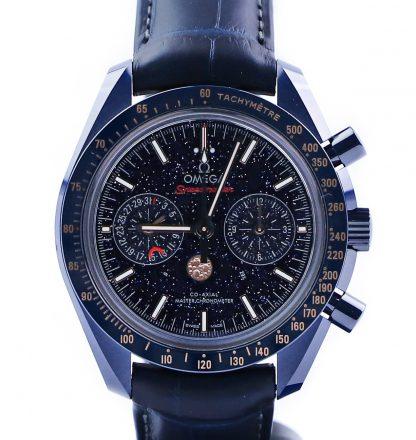 Omega Speedmaster Moonwatch Blue Side of Moon New 2019 304.93.44.52.03.002