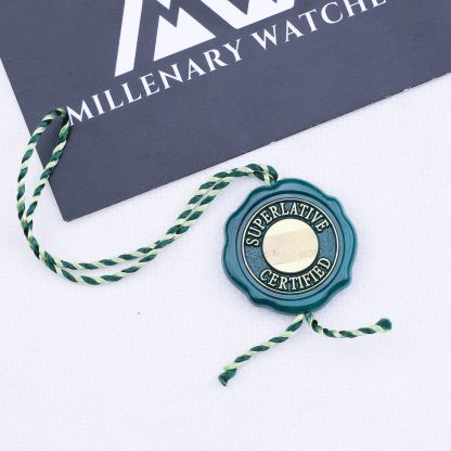 Original Rolex Green Certified Chronometer Hang Tag Seal