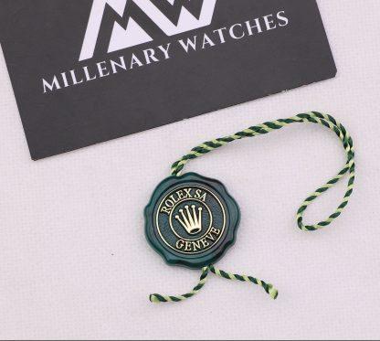 Original Rolex Green Certified Chronometer Hang Tag Seal
