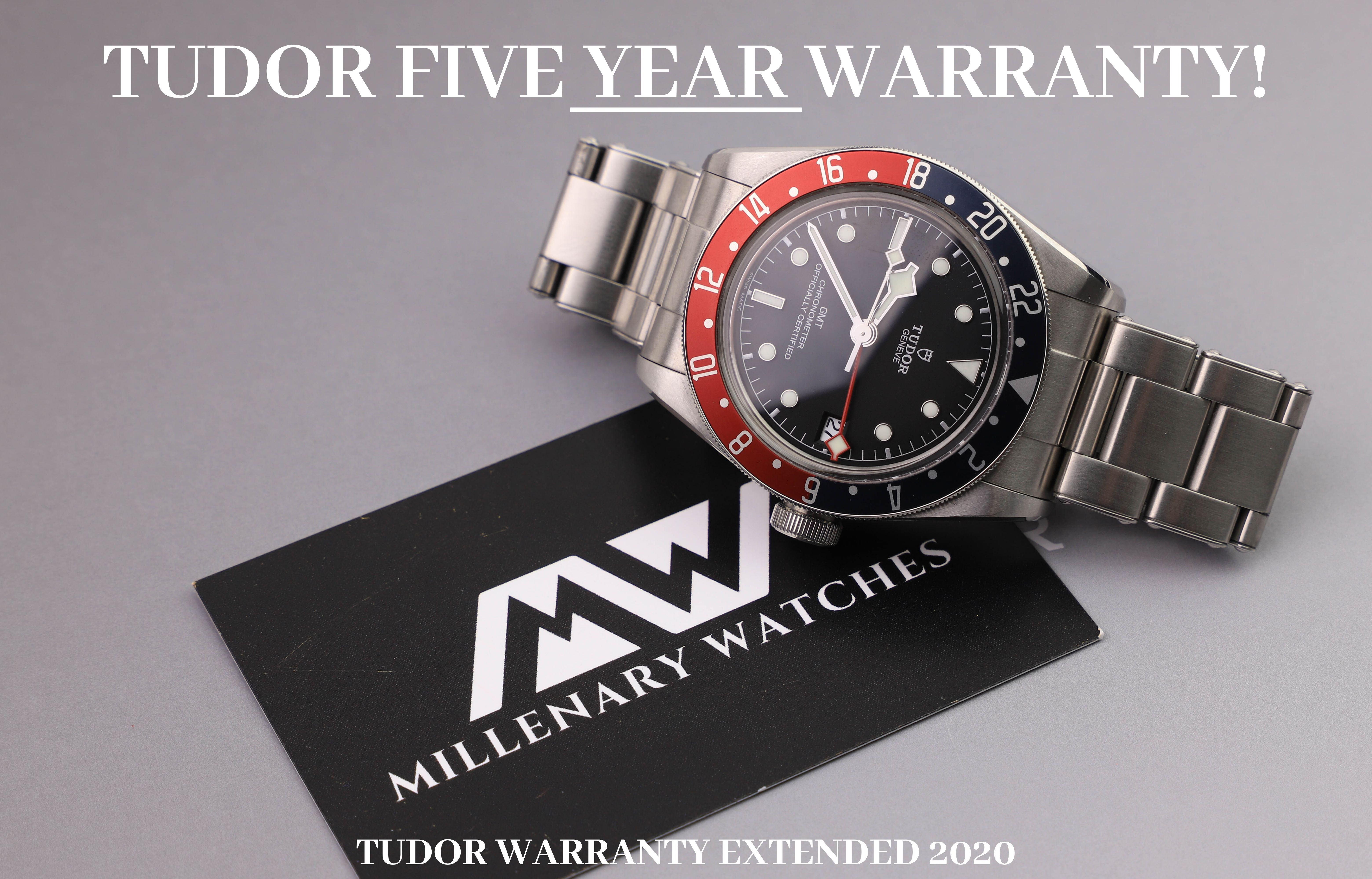 Tudor Five Year Warranty