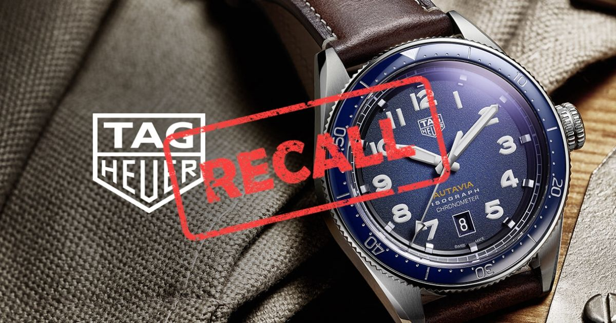 Tag Heuer Isograph recall