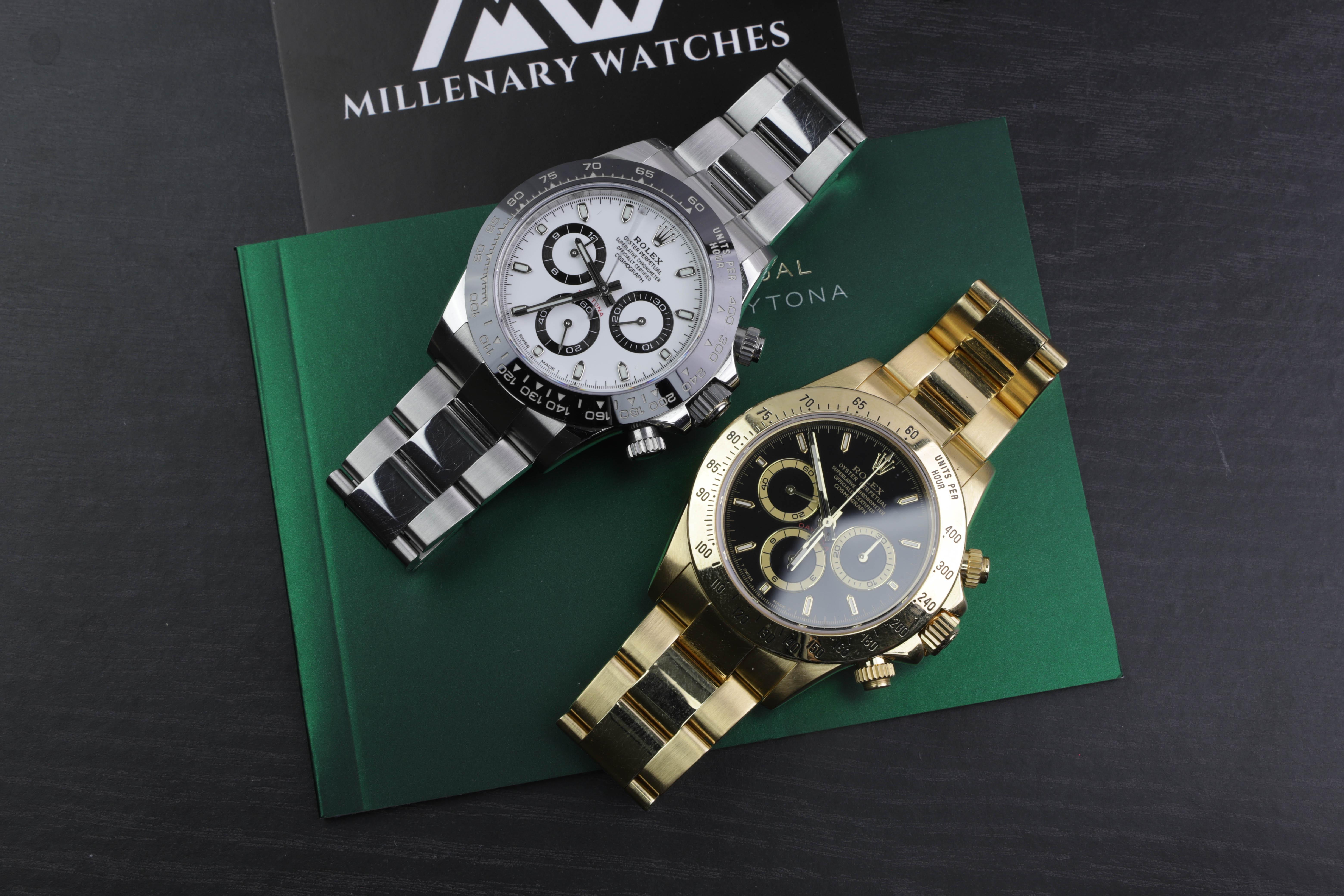 Rolex Daytona Ceramic 116500 White Dial Millenary Watches