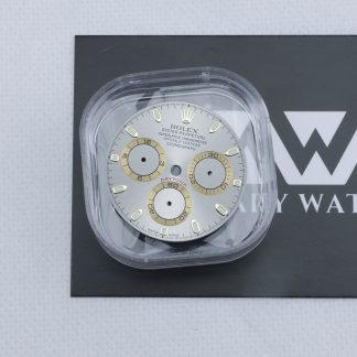 Original Rolex Cosmograph Daytona gray dial yellow gold sub-dial rings 116523