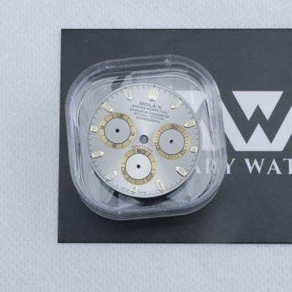 Original Rolex Cosmograph Daytona gray dial yellow gold sub-dial rings 116523