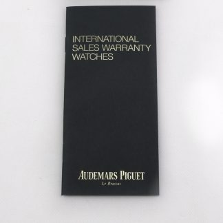 Audemars Piguet International sales warranty booklet