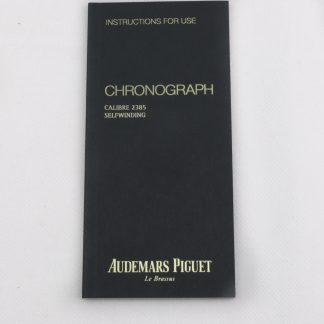 Audemars Piguet Chronograph Instructions manual