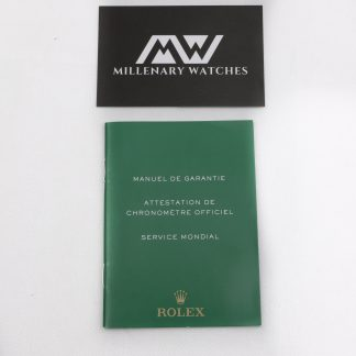 Rolex guarantee booklet