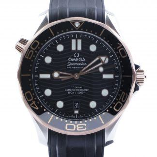 Omega Seamaster Diver 300M Sedna Gold Rubber New 2020
