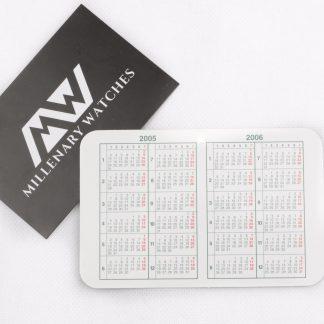Rolex calendar card 2005-2006