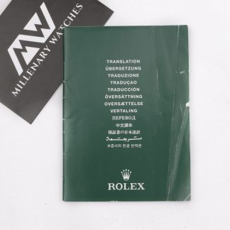 Rolex translation booklet
