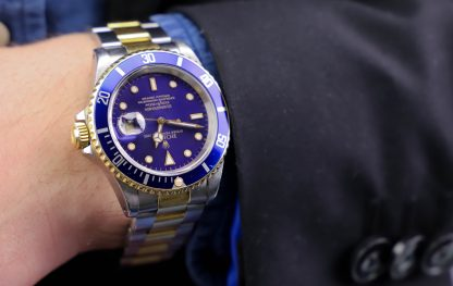 Rolex Submariner two tone 16613 purple dial