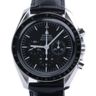 Omega Speedmaster Professional Moonwatch Hesalite Leather Strap New 2020