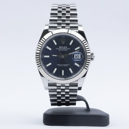 Rolex Datejust 41mm Blue Dial Jubilee 126334 2019