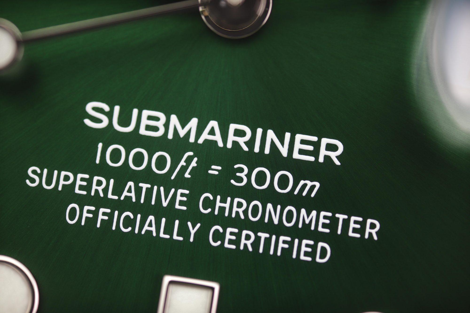 Rolex Submariner 116610LV dial