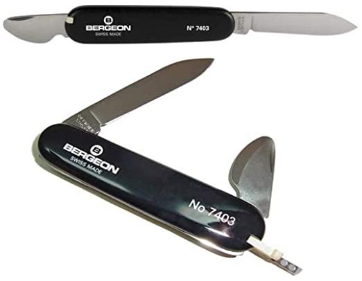 Bergeon 7403 Watchmaker Watch Case Back Opener Knife Tool