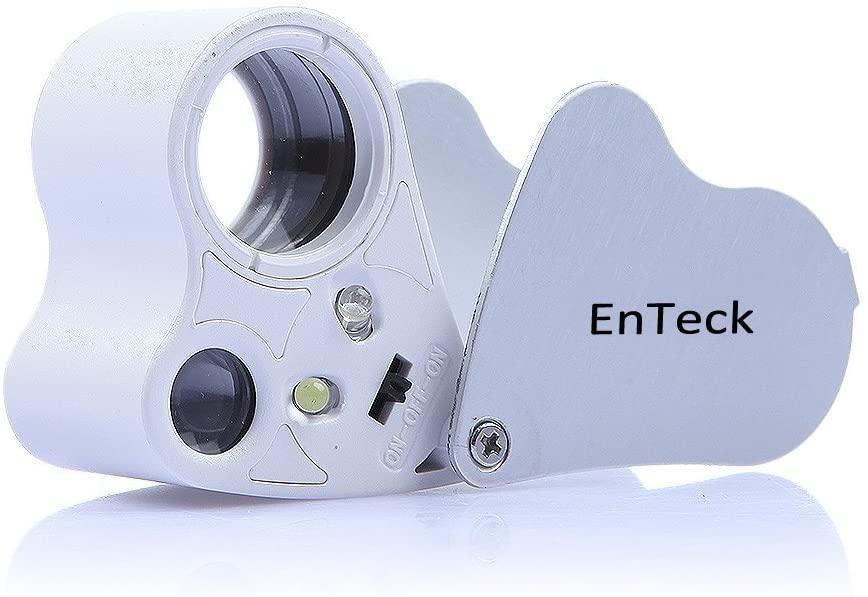 EnTeck 30X 60X Dual Lens LED Illuminated