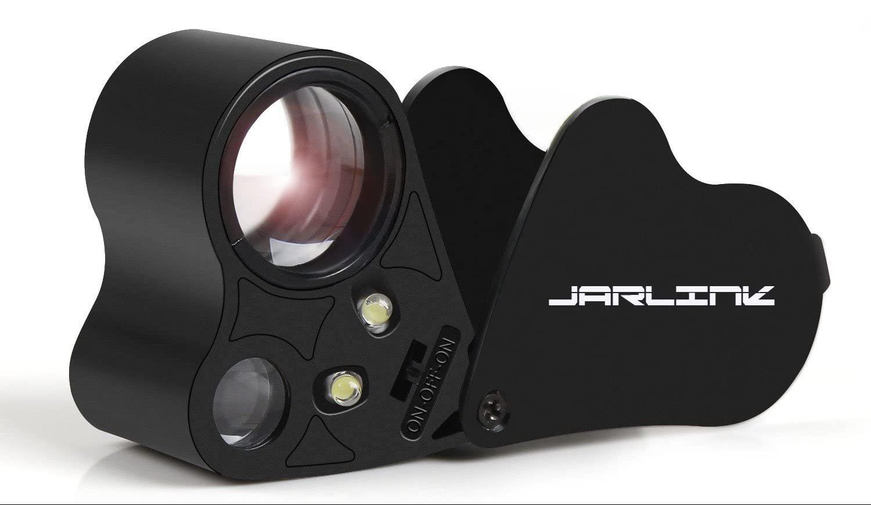 JARLINK 30X 60X Illuminated Jewelers Eye Loupe