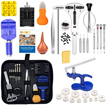 Onmust Watch Repair Kit, Watch Battery Replacement Tool Kit