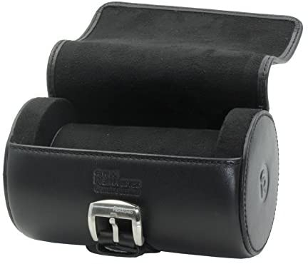 SWISS REIMAGINED Genuine Leather Portable Watch Roll Case Travel Organizer