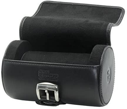 SWISS REIMAGINED Genuine Leather Portable Watch Roll Case Travel Organizer