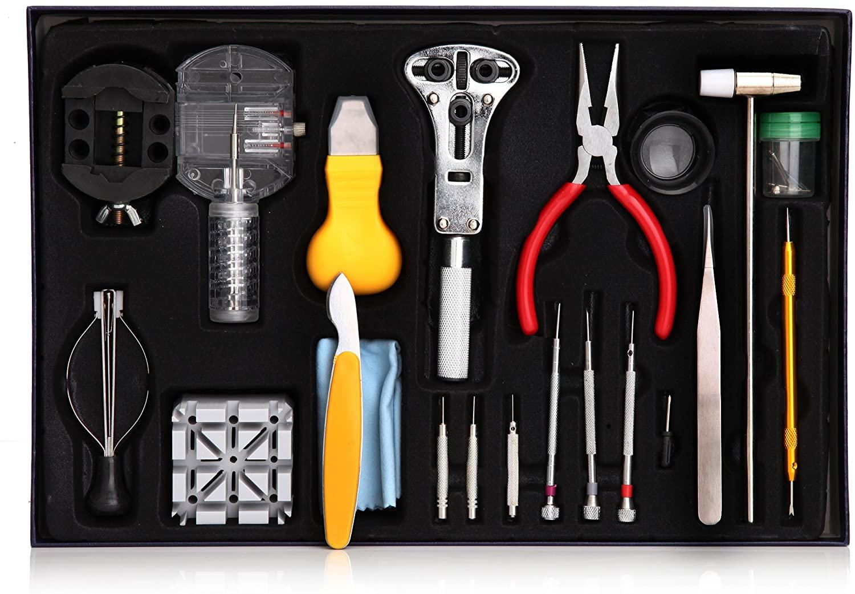 155Pcs Professional Practical Wrist Watch Repair Tools Kit Set Watchmaker