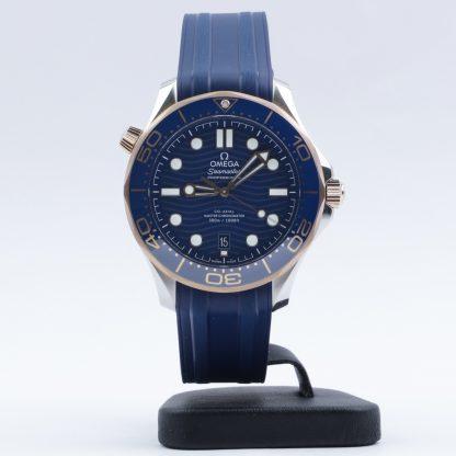 Omega Seamaster Diver 300M Sedna Gold Blue Rubber New 2020